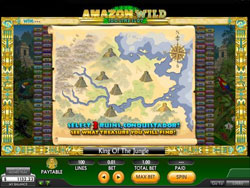 Screenshot of the Amazon Wild Slot Bonus Round