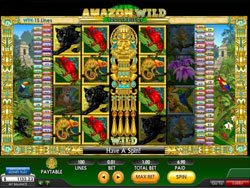 Screenshot of the Amazon Wild Slot Main Screen