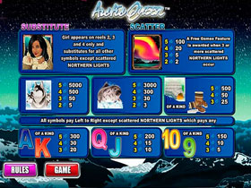 Arctic Queen Slot Payout Screen